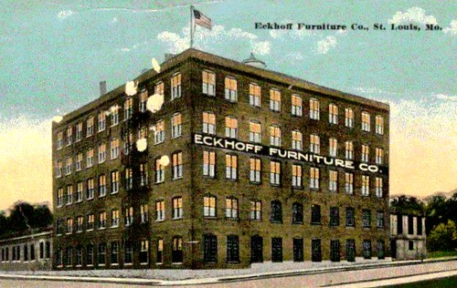 Eckhoff furniture factory lithograph of eckhoff for Furniture history society