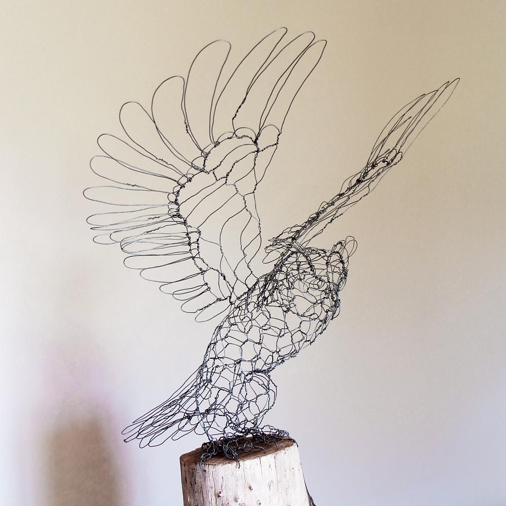 Wire Sculpture Wings Data Schema With Linearregulator Current Source Circuit Diagram Tradeoficcom Great Horned Owl Front Right Sculptu Flickr Rh Com Archangel Paper