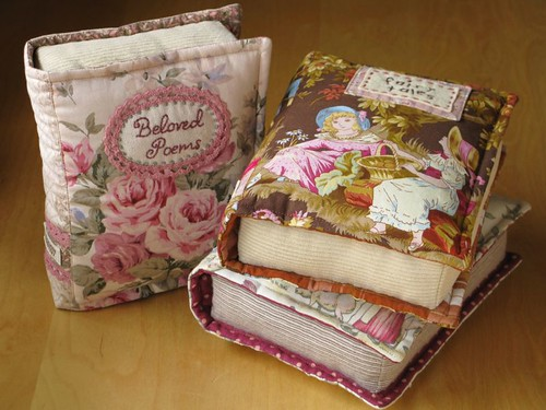 How To Make A Quilted Book Cover ~ Quilted books ged these ones are small x