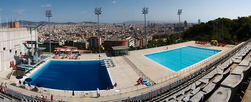 Piscina municipal de barcelona sergi comas flickr for Piscinas gratis barcelona