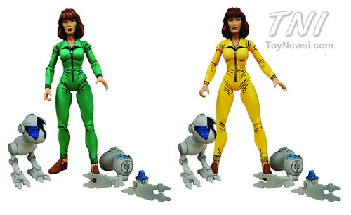 Neca Tmnt April Oneil With Mousers Green And Yellow Flickr