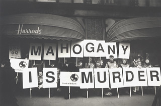 Mahogany protest, FoE England, Wales and Northern Ireland, 1993 | by Friends of the Earth International