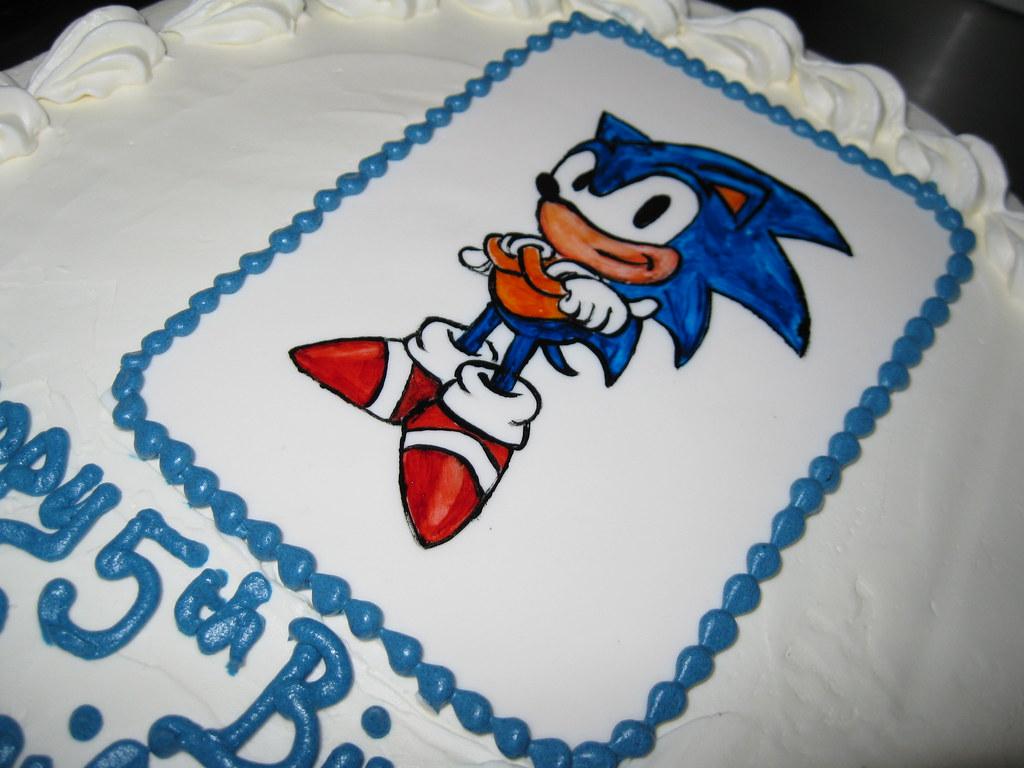 Sonic Birthday Cake Stephaniethebaker Stephanie Baker Flickr