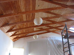 Douglas fir ceiling half bleached | by ouno design
