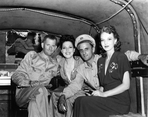 USO entertainers in the back of a military vehicle during World War II | by gbaku