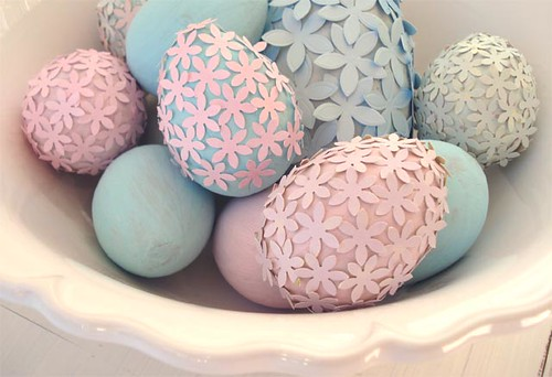 Bowl Of Paper Flower Eggs | by such pretty things
