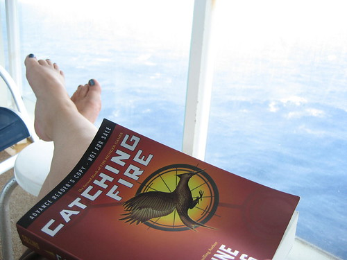 Reading Catching Fire while on the cruise | by mesocrafty