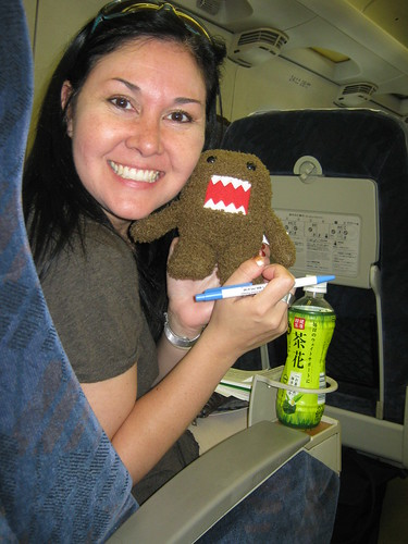 Susan and Domo-kun on the Shinkansen | by ElCapitanBSC