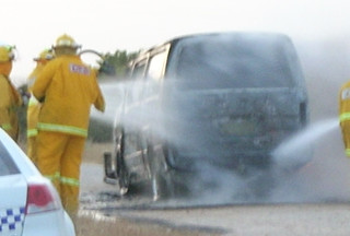 CFS putting out the van fire | by Mundoo