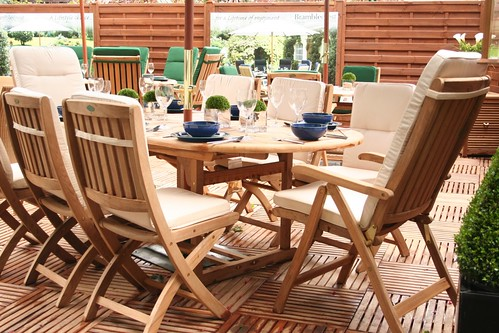 teak garden furniture and wooden decking by crinklecranklecom