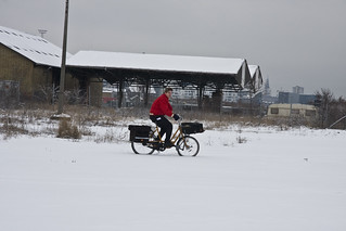 Harbour Postman - Cycling in Winter in Copenhagen | by Mikael Colville-Andersen