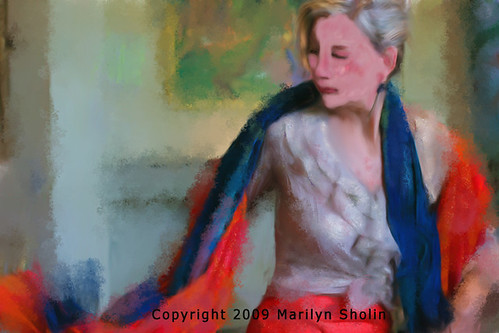 Dancers Thoughts painting | by marilynsholin