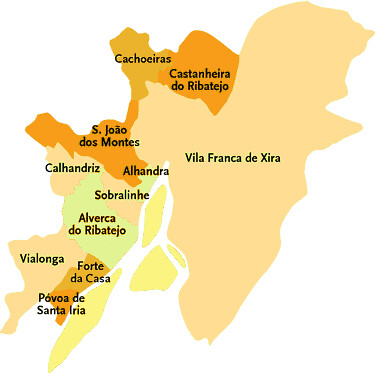 vila franca xira mapa Concelho de Vila Franca de Xira | Mapa das freguesias | Jorge  vila franca xira mapa