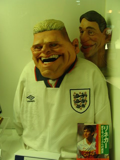 Gazza and Gary Lineker's Spitting Image puppets | by Ben Sutherland