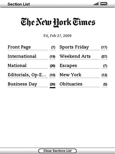 Newspaper Section list | Robert Mohns | Flickr