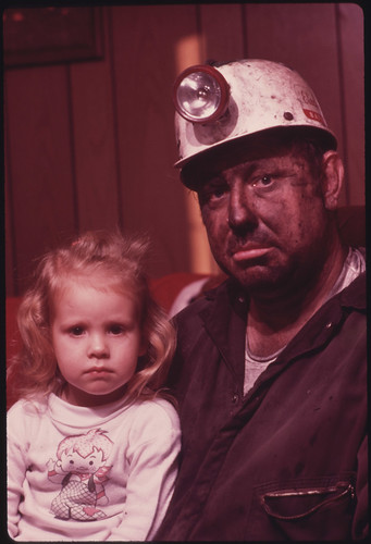 Miner Wayne Gipson, 39, with His Daughter Tabitha, 3. 12/1974 | by The U.S. National Archives