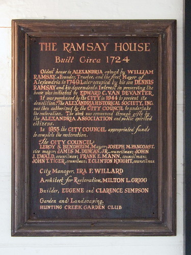 Ramsay House: Text on the Wooden Plaque | by cliff1066™