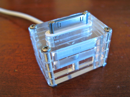 Quickie Laser-cut iPhone/iPod dock | by todbot