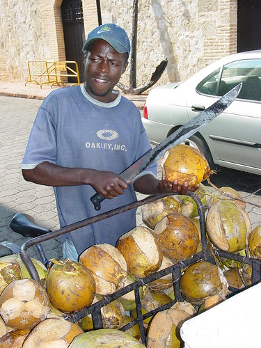 Coconut Seller with Machete - Santo Domingo - Dominican Republic | by Adam Jones, Ph.D. - Global Photo Archive