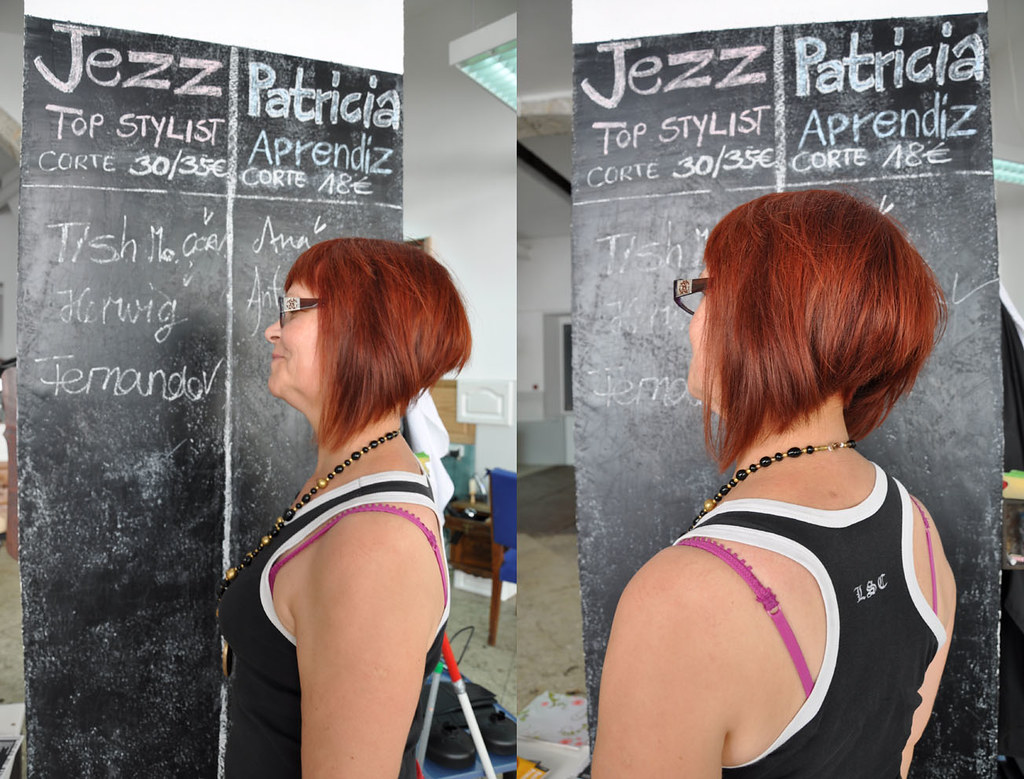 Radical Bob Haircut Red Color Haircut By Patricia Hair Co Flickr
