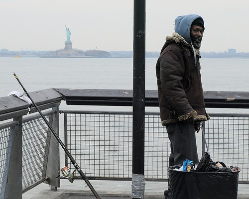 Fishing at valentino pier red hook brooklyn new york ci for Fishing in new york city