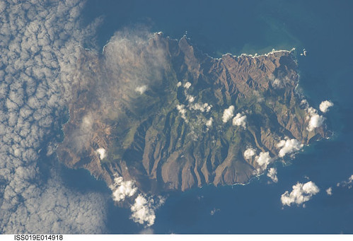 St. Helena Island (NASA, International Space Station Science, 5/7/09)