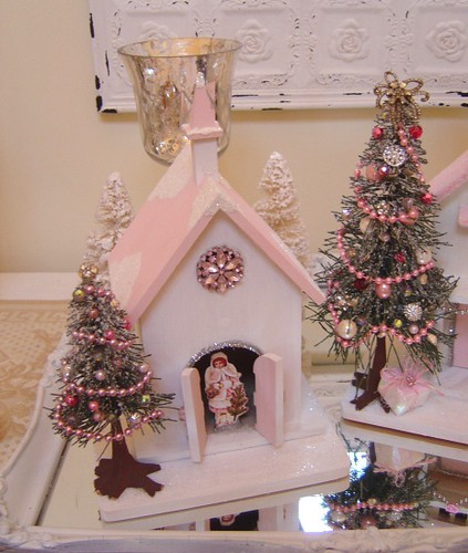 Pink Shabby Chic Christmas Decorations