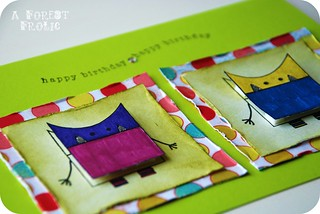 monster birthday card | by GlitterandFrills