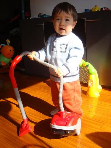 hardworking boy scotts latest favorite a baby vacuum