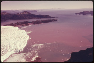 View South Across the Snout of Columbia Glacier to Prince William Sound...08/1974 | by The U.S. National Archives