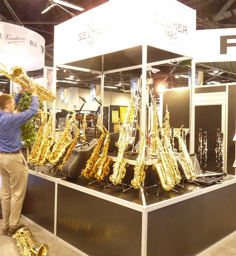 Selmer Saxophones display | by Papa Sax