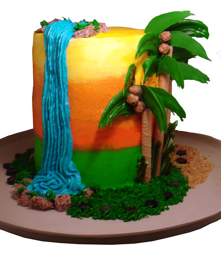 Waterfall Cake This Was Actually A Dora The Explorer