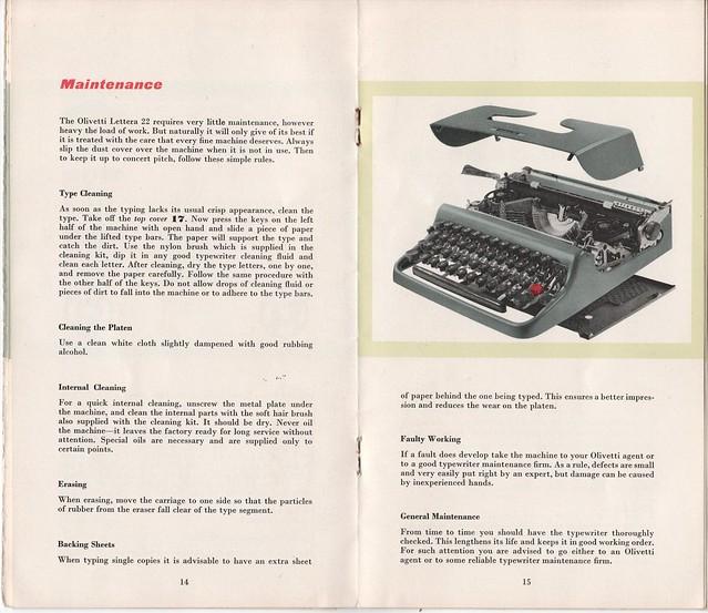 olivetti lettera 22 instruction manual flickr rh flickr com Olivetti Lettera 22 Olivetti Typewriter Ad