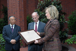Secretary Clinton and Chinese State Councilor Dai Bingguo Present Jeffrey Bader With the Secretary's Distinguished Service Award | by U.S. Department of State