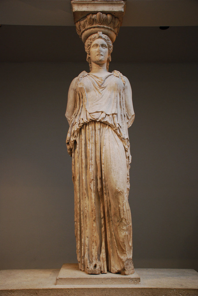 caryatid from the erechtheion the acropolis athens greec flickr