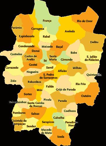 mapa concelho bragança Concelho de Bragança | Mapa das freguesias | Jorge Bastos | Flickr mapa concelho bragança