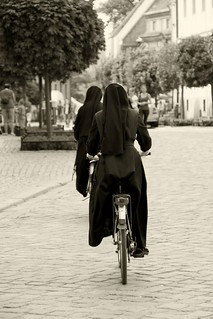 Nuns on bicycle... [B&W] | by Klearchos Kapoutsis