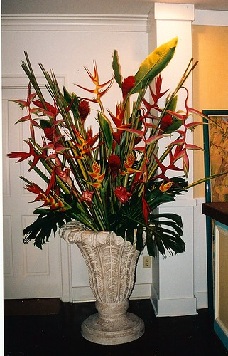large scale flower arrangement for tv pilot on haha maui