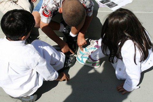 "Children choosing who's ""it"" at ""Love Yo Mama"" Earth Day in East Oakland 