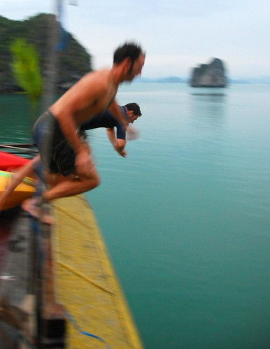 jeremy and brad dive in, halong bay | by hopemeng