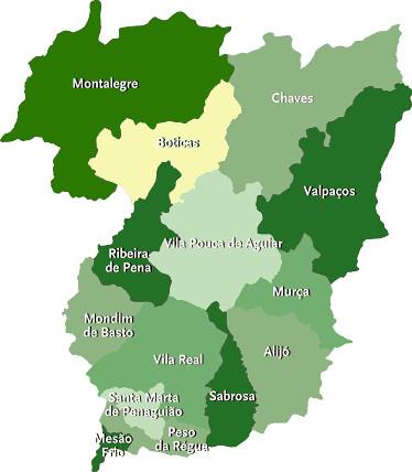 mapa do concelho de vila real Mapa do Distrito de Vila Real | Concelhos de Vila Real | Flickr mapa do concelho de vila real