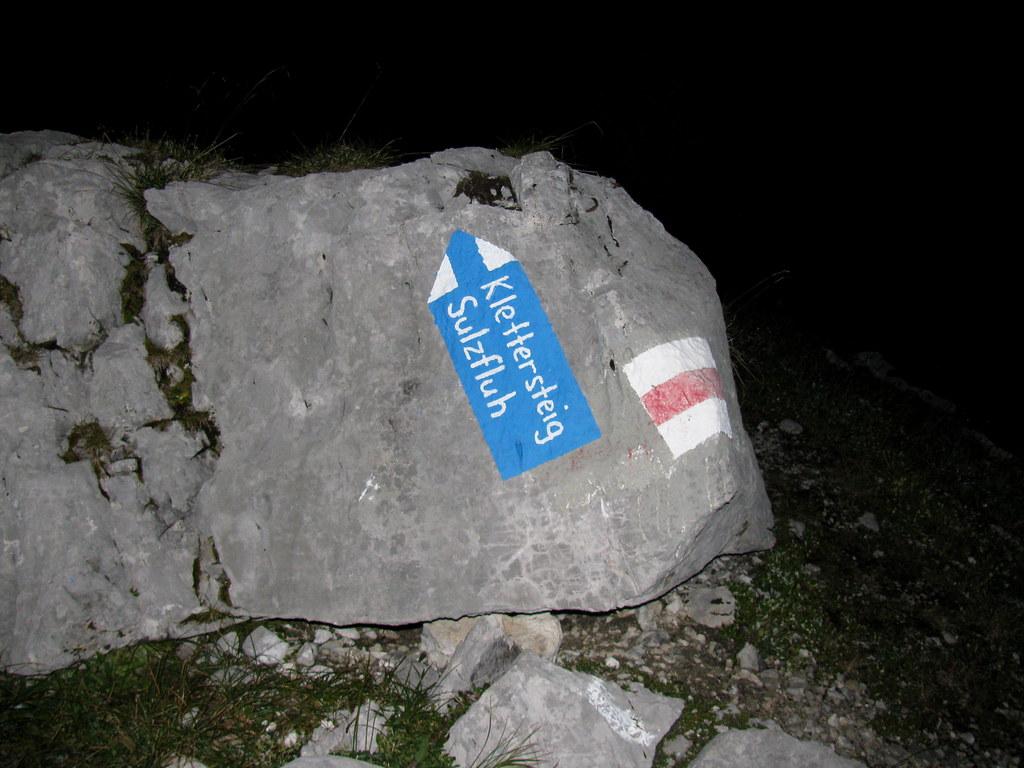 Klettersteig Sulzfluh : Wegweiser zum klettersteig sulzfluh in den alpen alps imu flickr