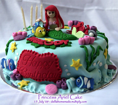 princess ariel cake Raras Atletiko Flickr