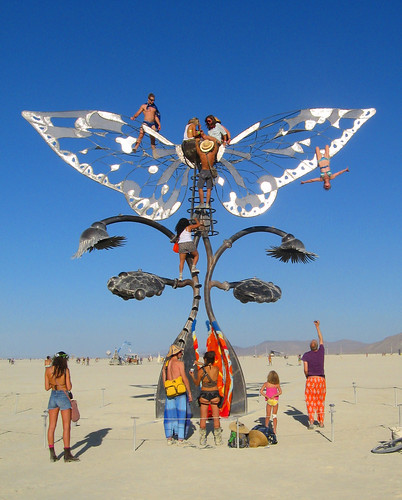 Hanging from a Wing I - Portal of Evoluiton - Burning Man 2009 #9 | by Wolfram Burner