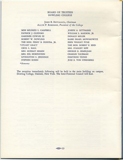 Program for Robinson Inauguration - Page 6 | by Dowling College Library