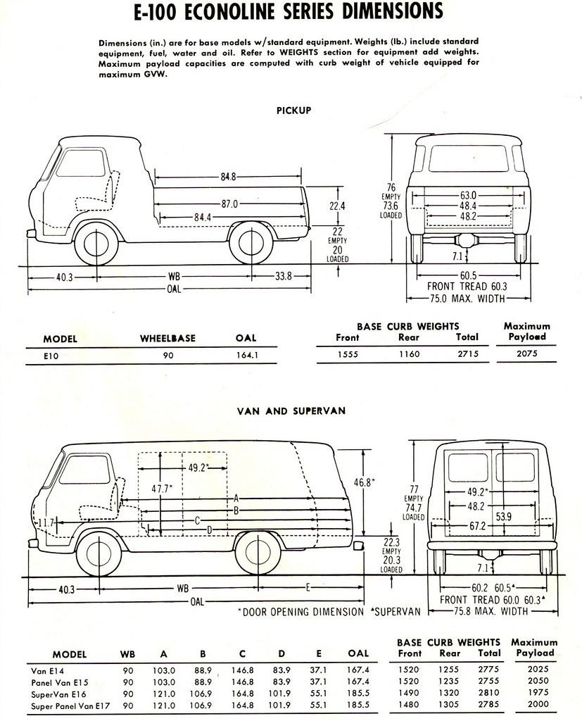 1965 Ford E100 Econoline Dimensions Van Supervan  Pick  Flickr
