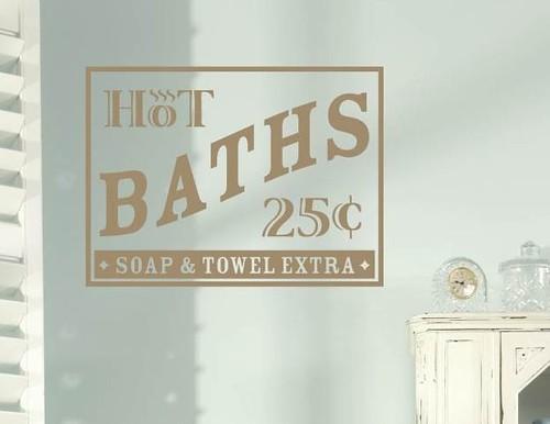 Great ... Hot Baths  Bathroom Vinyl Wall Decal | By Tweet Heart Wall Art