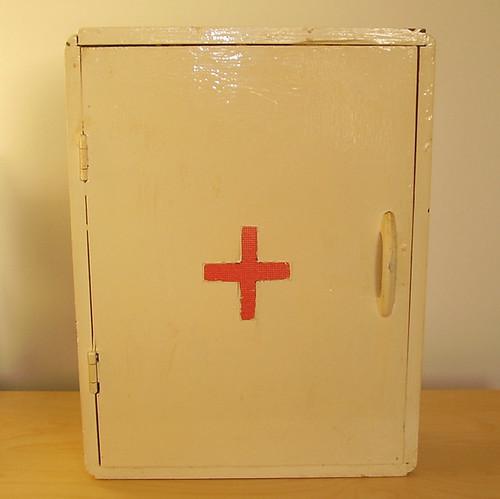 Vintage Medicine Antique Wood Bathroom Shelves Cabinet