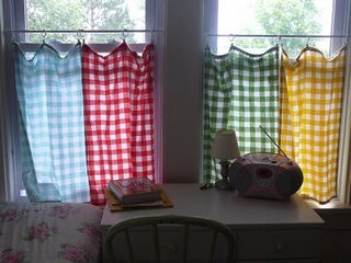 tea towel curtains mom24girlies Flickr