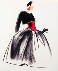 Fashion Illustration by Mats Gustafson (Swedish, 1951) | by FIT Library Department of Special Collections